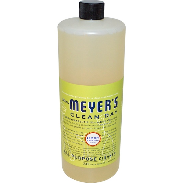Mrs. Meyers Clean Day, All Purpose Cleaner, Lemon Verbena Scent, 32 fl oz (946 ml) (Discontinued Item)