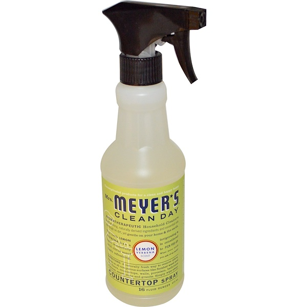 Mrs. Meyers Clean Day, Countertop Spray, Lemon Verbena Scent, 16 fl oz (473 ml) (Discontinued Item)