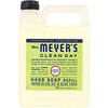 Mrs. Meyers Clean Day, Recarga de jabón líquido de manos, esencia de verbena de limón, 33 fl oz (975 ml)