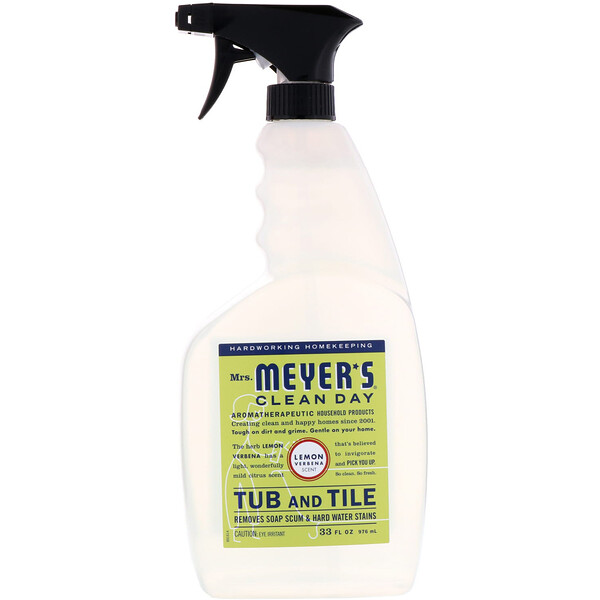 Mrs. Meyers Clean Day, Tub and Tile, Lemon Verbena Scent, 33 fl oz (976 ml)