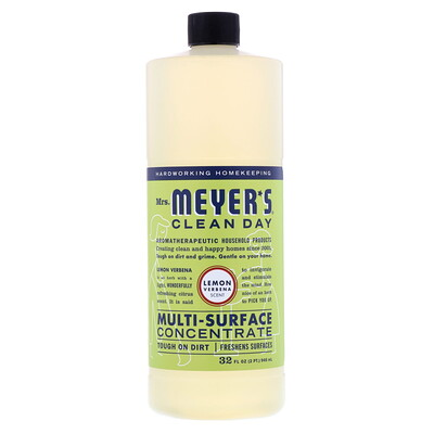 Mrs. Meyers Clean Day Multi-Surface Concentrated Cleaner, Lemon Verbena, 32 fl oz (946 ml)