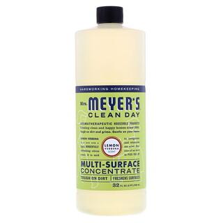 Mrs. Meyers Clean Day, Multi-Surface Concentrate, Lemon Verbena Scent, 32 fl oz (946 ml)