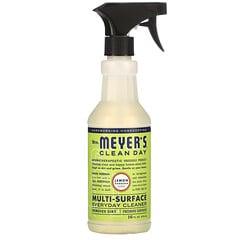 Mrs. Meyers Clean Day, 多功能日常清潔劑,檸檬馬鞭草香,16 液量盎司(473 毫升)
