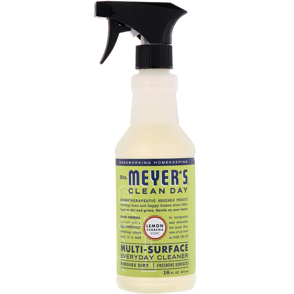 Mrs. Meyers Clean Day, Multi-Surface Everyday Cleaner, Lemon Verbena Scent (hierba luisa), 16 fl oz (473 ml)