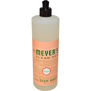 Mrs. Meyers Clean Day, Liquid Dish Soap, Geranium Scent, 16 fl oz (473 ml)
