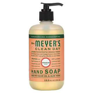 Mrs. Meyers Clean Day, Hand Soap, Geranium Scent, 12.5 fl oz (370 ml)