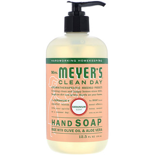 Mrs. Meyers Clean Day, Hand Soap, Geranium Scent, 12.5 fl oz (370 ml)