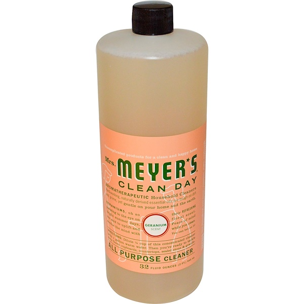 Mrs. Meyers Clean Day, All Purpose Cleaner, Geranium Scent, 32 fl oz (946 ml) (Discontinued Item)