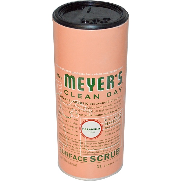 Mrs. Meyers Clean Day, Surface Scrub, Geranium Scent, 11 oz (311 g) (Discontinued Item)