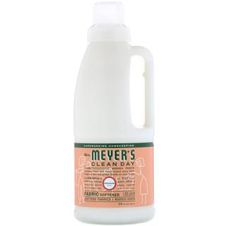 Mrs. Meyers Clean Day, 織物柔順劑,天竺葵香味,32液量盎司(946毫升)