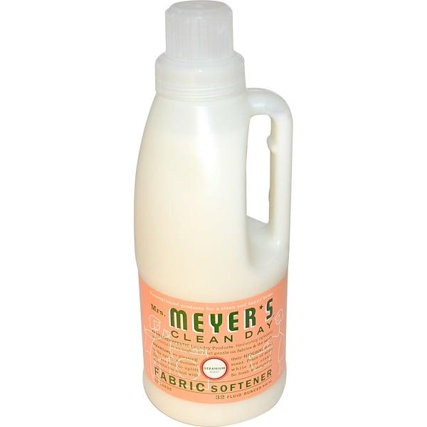Mrs. Meyers Clean Day, Кондиционер для белья, с запахом герани, 32 жидких унций (946 мл)