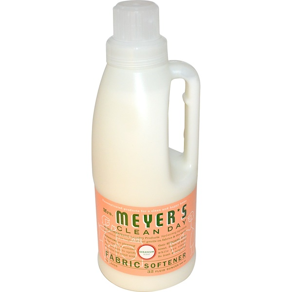Mrs. Meyers Clean Day, ミセスメイヤーズクリーンデイ, Fabric Softener, Geranium Scent, 32 fl oz (946 ml)