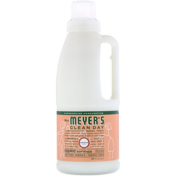 Mrs. Meyers Clean Day, Suavizante para Telas, Aroma Geranio, 32 fl oz (946 ml)