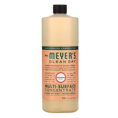 Mrs. Meyers Clean Day Multi-Surface Concentrate, Geranium, 32 fl oz (946 ml)