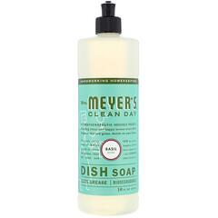 Mrs. Meyers Clean Day, 帶紫蘇香味的洗碗液,16盎司(473毫升)