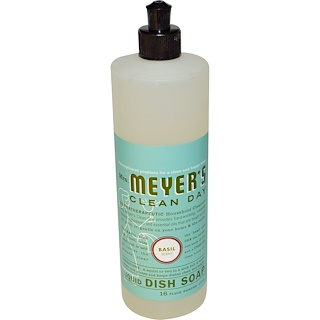 Mrs. Meyers Clean Day, Liquid Dish Soap, Basil Scent, 16 fl oz (473 ml)