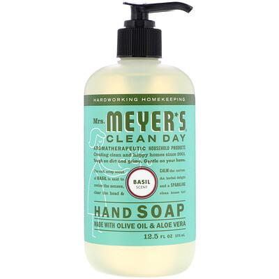 Купить Mrs. Meyers Clean Day Жидкое мыло для рук с ароматом базилика, 12, 5 жидких унций (370 мл)