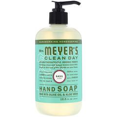 Mrs. Meyers Clean Day, 洗手液,羅勒香味,12.5 盎司(370 毫升)