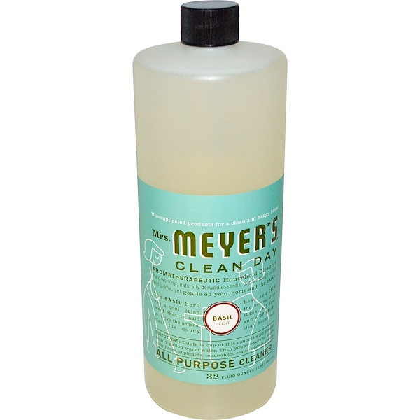 Mrs. Meyers Clean Day, All Purpose Cleaner, Basil Scent, 32 fl oz (946 ml) (Discontinued Item)