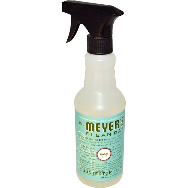 Mrs. Meyers Clean Day, Countertop Spray, Basil Scent, 16 fl oz (473 ml) (Discontinued Item)