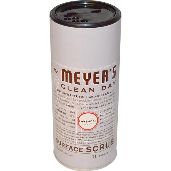 Mrs. Meyers Clean Day, Скраб для поверхностей, лавандовый аромат, 11 унций (311 г)