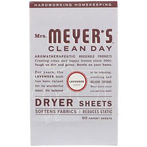 Мрс Мэйерс Клин Дэй, Dryer Sheets, Lavender Scent, 80 Sheets отзывы покупателей