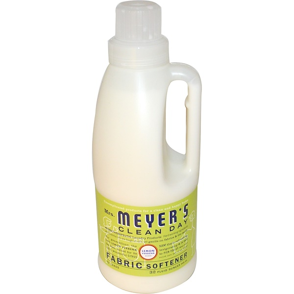 Mrs. Meyers Clean Day, Fabric Softener, Lemon Verbena Scent, 32 fl oz (946 ml)