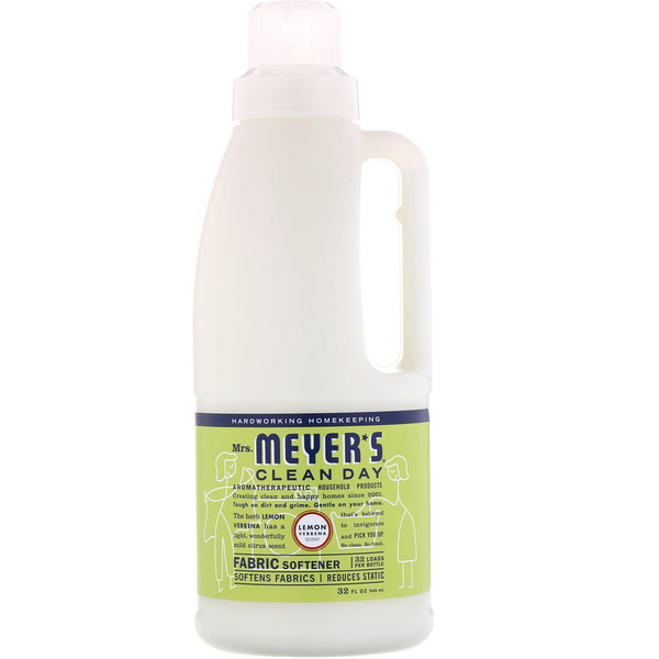 Mrs. Meyers Clean Day, Suavizante para telas, esencia de hierba luisa, 32 fl oz (946 ml) (Discontinued Item)