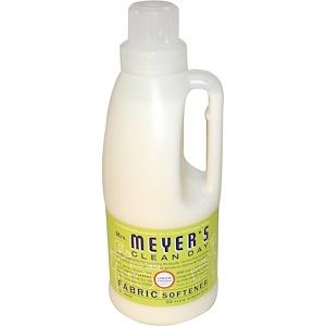 Mrs. Meyers Clean Day, Смягчитель для тканей, аромат вербены лимонной, 32 жидкие унции (946 мл)