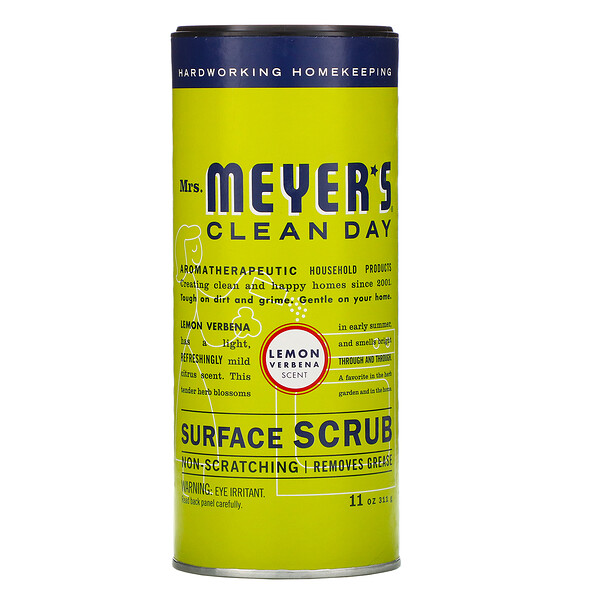 Mrs. Meyers Clean Day, Surface Scrub, Lemon Verbena Scent, 11 oz (311g)