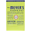 Mrs. Meyers Clean Day, Dryer Sheets, Lemon Verbena Scent, 80 Sheets