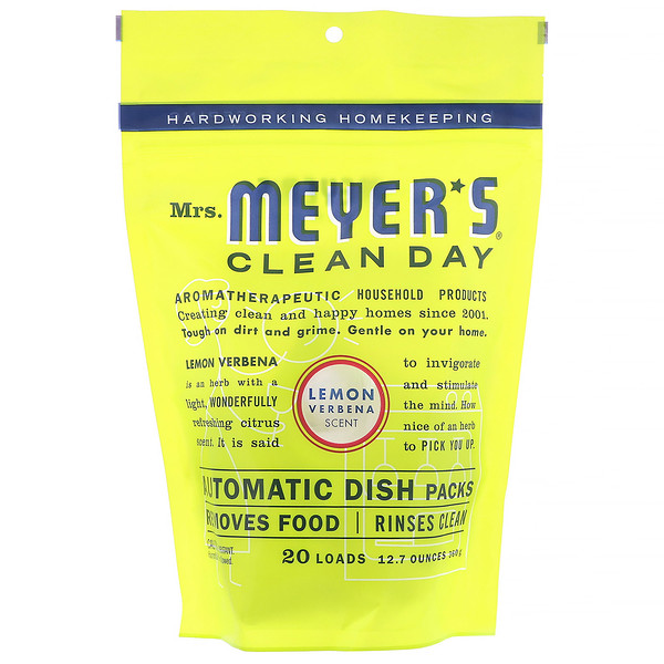 Mrs. Meyers Clean Day, Automatic Dish Packs, Lemon Verbena Scent,12.7 oz (360 g) (Discontinued Item)