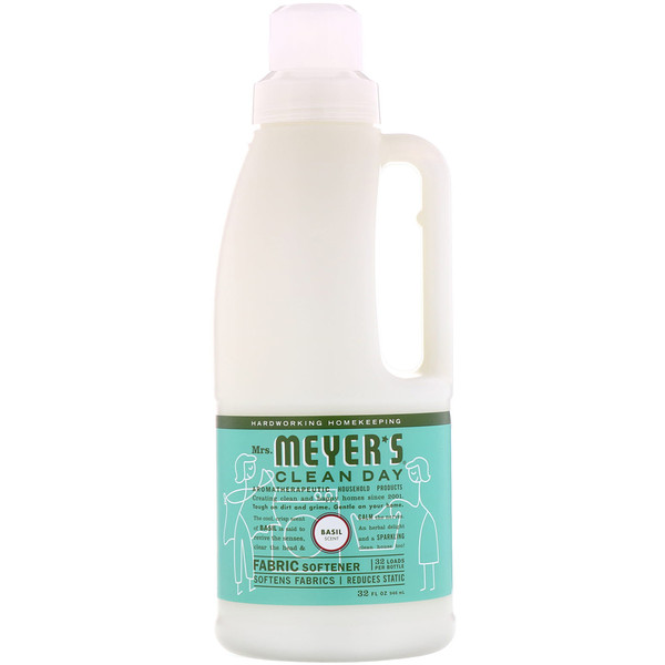 Mrs. Meyers Clean Day, Suavizante, aroma albahaca, 32 fl oz (946 ml)