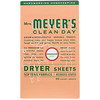 Mrs. Meyers Clean Day, Dryer Sheets, Geranium Scent,  80 Sheets