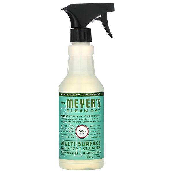 Mrs. Meyers Clean Day, Multi-Surface Everyday Cleaner, Basil Scent, 16 fl oz (473 ml)