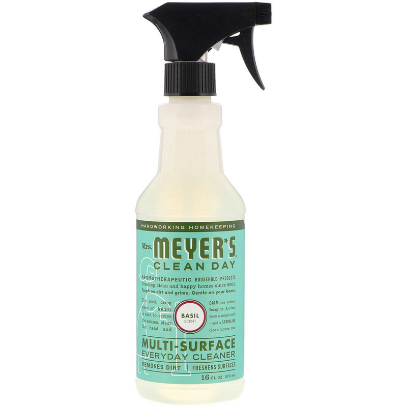 Multi-Surface Everyday Cleaner, Basil Scent, 16 fl oz (473 ml)