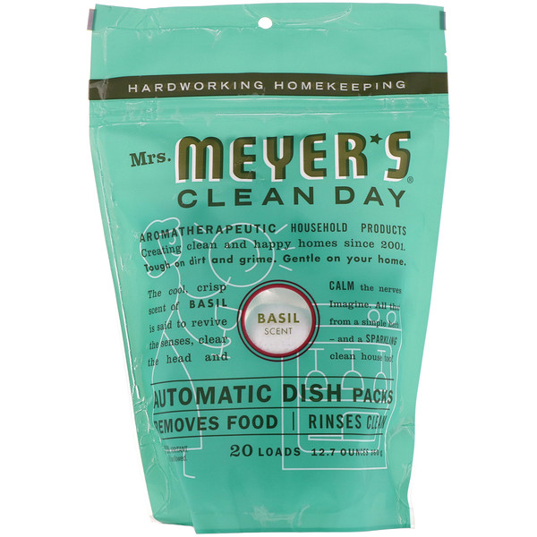 Mrs. Meyers Clean Day, Automatic Dish Packs, Basil Scent, 12.7 oz (360 g) (Discontinued Item)