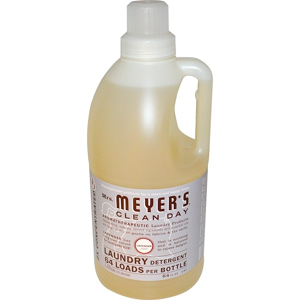 Mrs. Meyers Clean Day, Laundry Detergent, Lavender, 64 fl oz (1.8 l) (Discontinued Item)