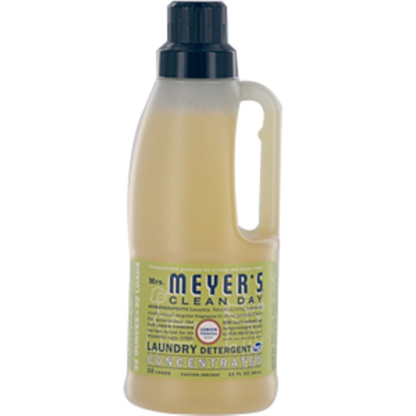 Mrs. Meyers Clean Day, Laundry Detergent, Lemon Verbena, 32 fl oz (946 ml)  (Discontinued Item)