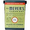 Mrs. Meyers Clean Day, Scented Soy Candle, Iowa Pine Scent, 4.9 oz (140 g)
