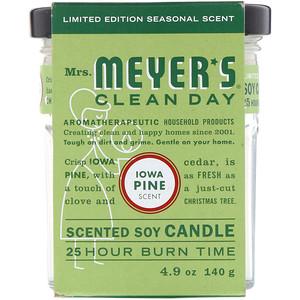 Мрс Мэйерс Клин Дэй, Scented Soy Candle, Iowa Pine Scent, 4.9 oz (140 g) отзывы покупателей