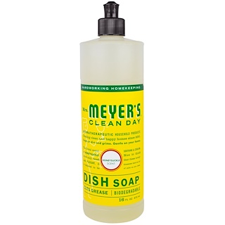 Mrs. Meyers Clean Day, Liquid Dish Soap, Honeysuckle Scent, 16 fl oz (473 ml)