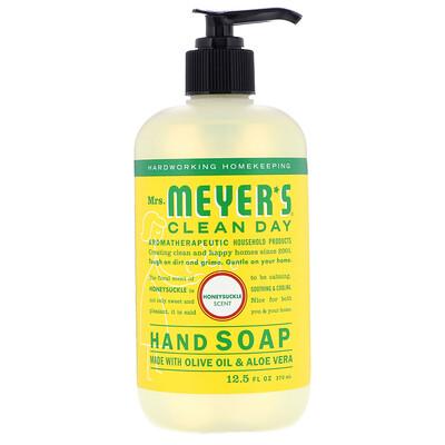 Mrs. Meyers Clean Day Hand Soap, Honeysuckle Scent, 12.5 fl oz (370 ml)