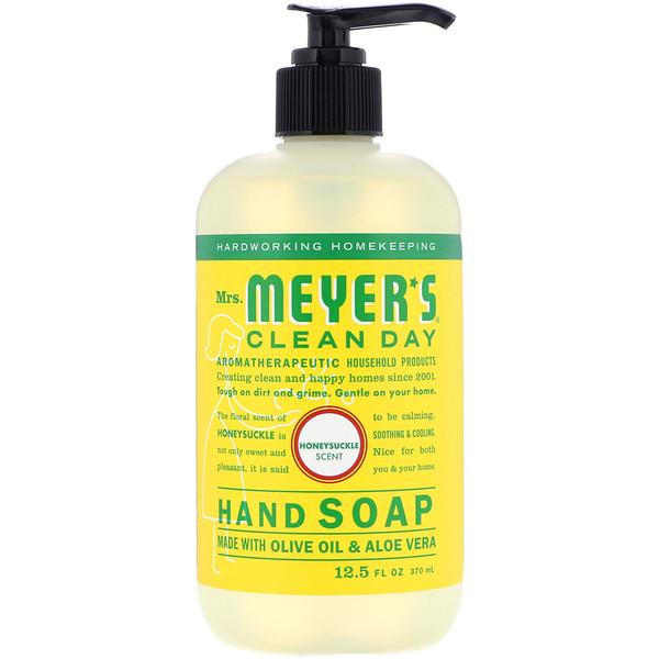 Mrs. Meyers Clean Day, Hand Soap, Honeysuckle Scent, 12.5 fl oz (370 ml)