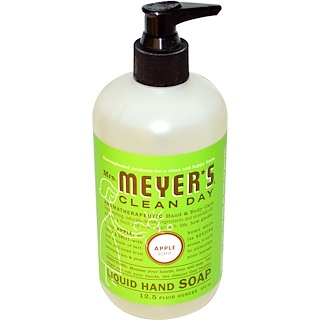 Mrs. Meyers Clean Day, Liquid Hand Soap, Apple Scent, 12.5 fl oz (370 ml)