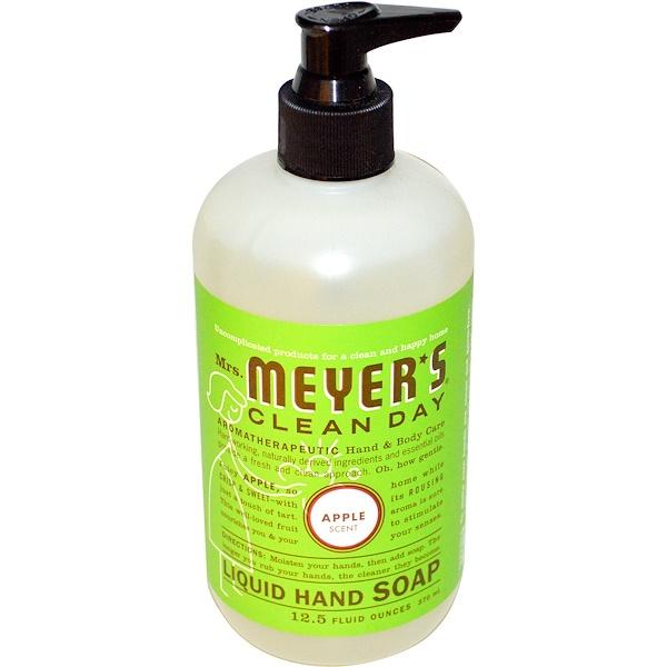 Mrs、 Meyers Clean Day, 蘋果香味洗手液,12、5液盎司(370毫升)