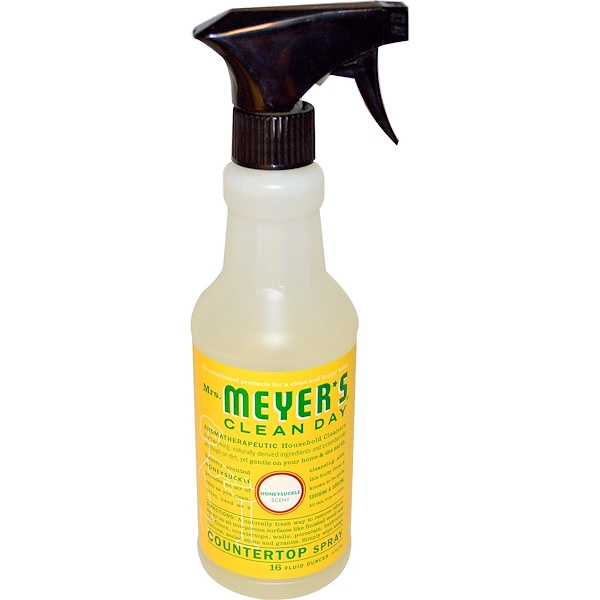 Mrs. Meyers Clean Day, Countertop Spray, Honeysuckle Scent, 16 fl oz (473 ml) (Discontinued Item)