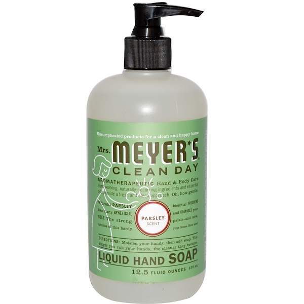 Mrs. Meyers Clean Day, Жидкое мыло для рук, аромат петрушки, 12,5 жидких унций (370 мл)