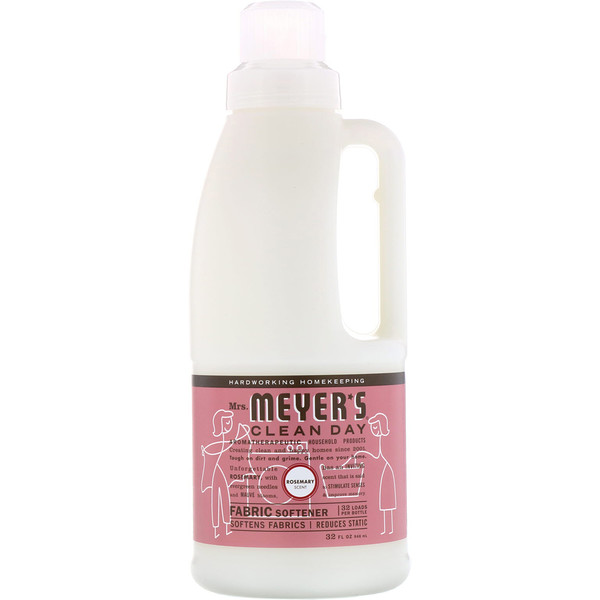 Mrs. Meyers Clean Day, Fabric Softener, Rosemary Scent, 32 fl oz (946 ml) (Discontinued Item)