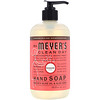 Mrs. Meyers Clean Day, Hand Soap, Rhubarb Scent, 12.5 fl oz (370 ml)
